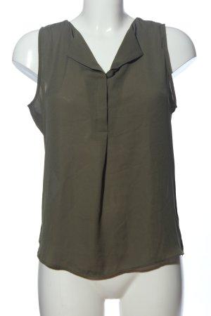 Vila Clothes ärmellose Bluse khaki Casual-Look