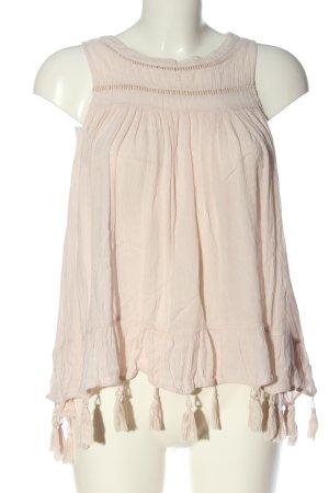 Vila Clothes ärmellose Bluse creme Casual-Look