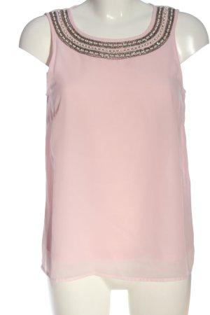 Vila Clothes ärmellose Bluse pink Business-Look