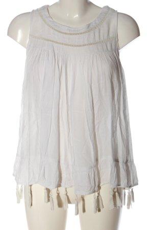Vila Clothes ärmellose Bluse weiß Casual-Look