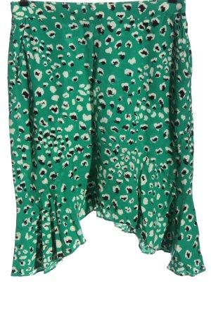 Vila Clothes Jupe asymétrique vert motif abstrait style décontracté