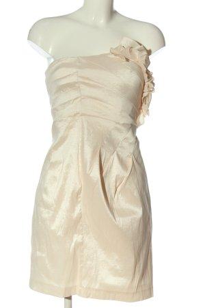 Vila Clothes Vestido de baile crema elegante