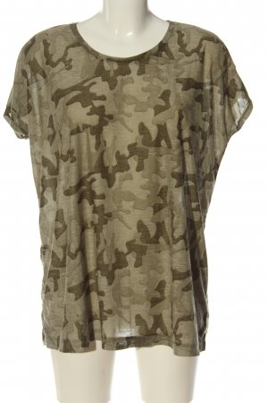 Vila Clothes Batik shirt khaki-bruin volledige print casual uitstraling