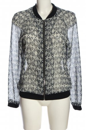 Vila Clothes Bomber Jacket black-natural white abstract pattern casual look