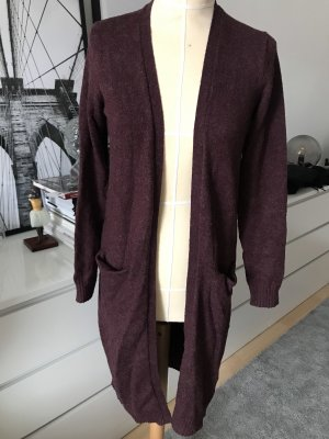 Vila Clothes Cardigan in Dunkelrot