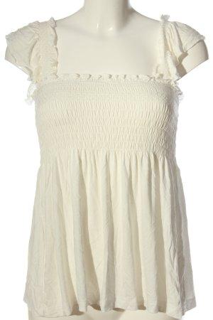 Vila Clothes Camisa tipo Carmen blanco look casual