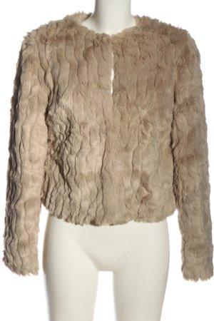 Vila Clothes Giacca in eco pelliccia bianco sporco stile casual