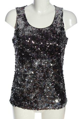 Vila Clothes Splendor Blouse black-silver-colored casual look