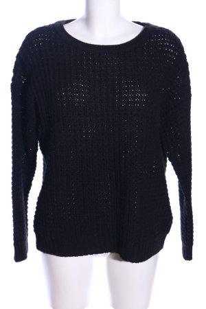 Vila Clothes Grobstrickpullover schwarz Casual-Look