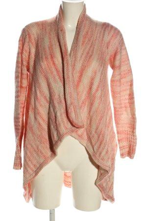 Vila Clothes Cardigan all'uncinetto rosa-crema stile casual