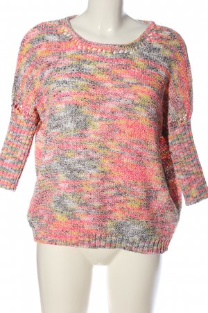Vila Clothes Crochet Sweater abstract pattern casual look