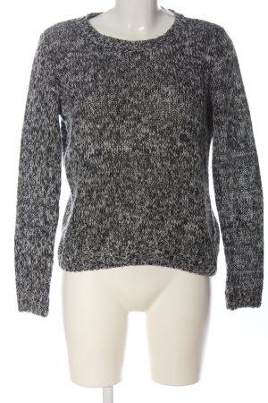 Vila Clothes Jersey de ganchillo gris claro-negro Patrón de tejido look casual