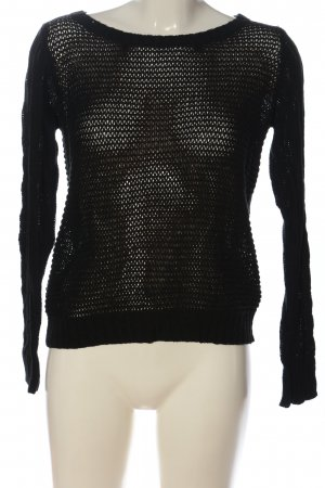 Vila Clothes Top en maille crochet noir style décontracté