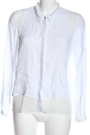 Vila Clothes Hemd-Bluse weiß-wollweiß Casual-Look