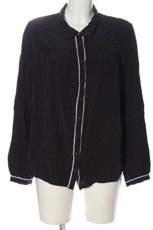 Vila Clothes Hemd-Bluse schwarz-weiß Casual-Look