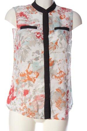 Vila Clothes Hemd-Bluse Blumenmuster Casual-Look