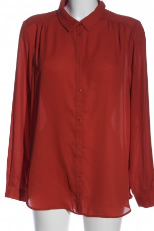 Vila Clothes Hemd-Bluse rot Business-Look
