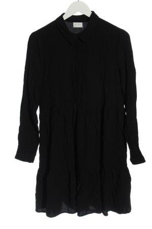 Vila Clothes Hemdblusenkleid schwarz Casual-Look