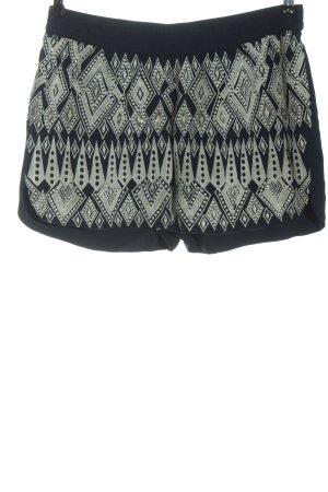 Vila Clothes Short moulant noir-blanc motif graphique style décontracté