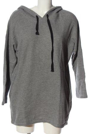 Vila Clothes Robe à capuche gris clair moucheté style décontracté