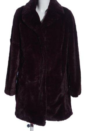 Vila Clothes Manteau en fausse fourrure noir style décontracté