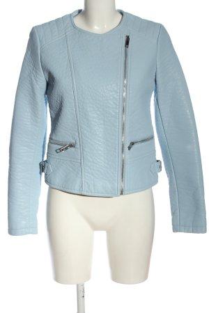 Vila Clothes Jack van imitatieleder blauw casual uitstraling