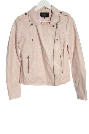 Vila Clothes Veste en cuir synthétique rose style décontracté