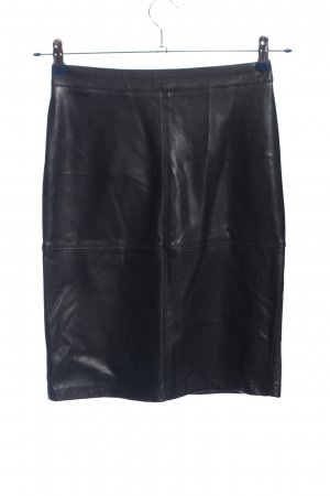Vila Clothes Faux Leather Skirt black casual look