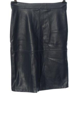 Vila Clothes Kunstlederrock schwarz Casual-Look