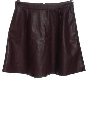 Vila Clothes Faux Leather Skirt lilac elegant