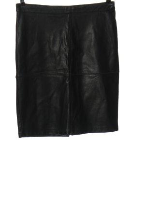 Vila Clothes Kunstlederrock schwarz extravaganter Stil