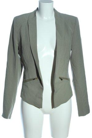 Vila Clothes Kurz-Blazer hellgrau Business-Look