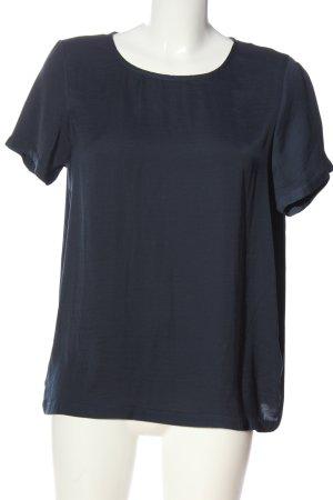 Vila Clothes Kurzarm-Bluse blau Casual-Look