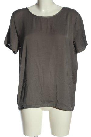 Vila Clothes Kurzarm-Bluse hellgrau Casual-Look