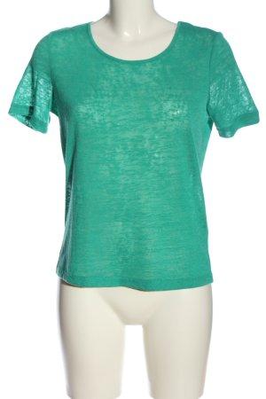 Vila Clothes Kurzarm-Bluse grün Casual-Look