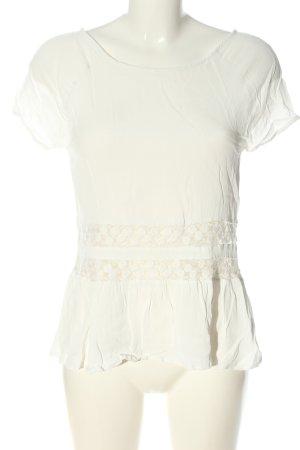 Vila Clothes Kurzarm-Bluse weiß Casual-Look
