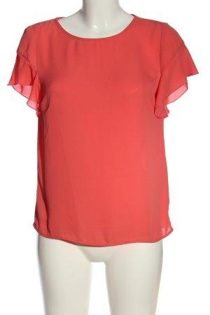 Vila Clothes Kurzarm-Bluse rot Business-Look