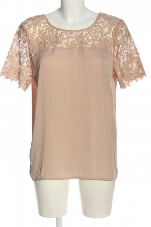 Vila Clothes Kurzarm-Bluse creme Casual-Look