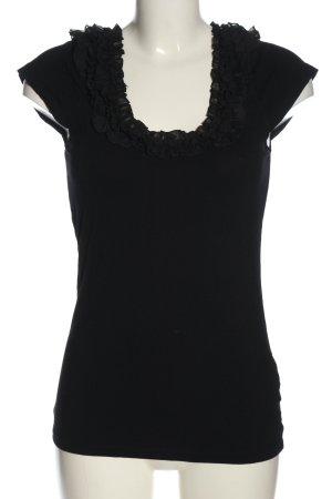 Vila Clothes Kurzarm-Bluse schwarz Business-Look