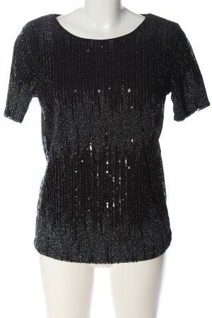 Vila Clothes Kurzarm-Bluse schwarz Elegant