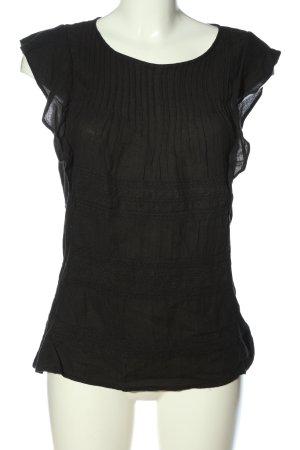 Vila Clothes Kurzarm-Bluse schwarz Casual-Look
