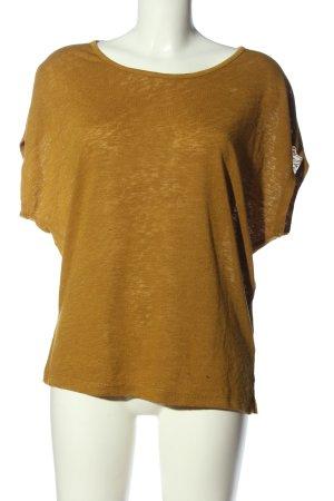 Vila Clothes Kurzarm-Bluse braun Casual-Look