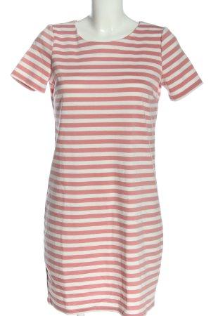 Vila Clothes Kurzarmkleid weiß-pink Allover-Druck Casual-Look
