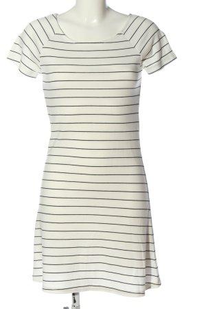 Vila Clothes Kurzarmkleid weiß Streifenmuster Casual-Look