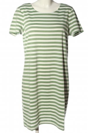 Vila Clothes Kurzarmkleid khaki-wollweiß Streifenmuster Casual-Look