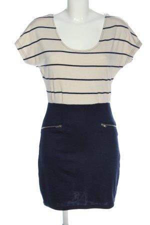 Vila Clothes Kurzarmkleid blau-weiß Streifenmuster Casual-Look