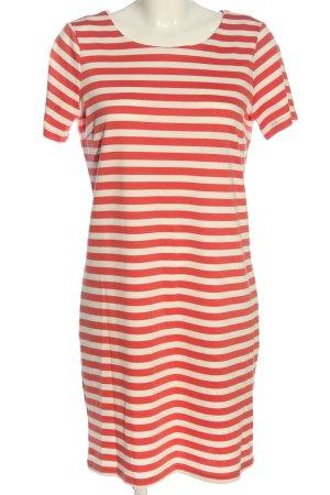 Vila Clothes Kurzarmkleid weiß-rot Allover-Druck Casual-Look