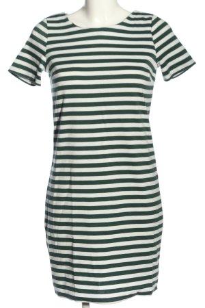 Vila Clothes Kurzarmkleid grün-weiß Streifenmuster Casual-Look