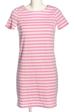 Vila Clothes Kurzarmkleid pink-weiß Allover-Druck Casual-Look