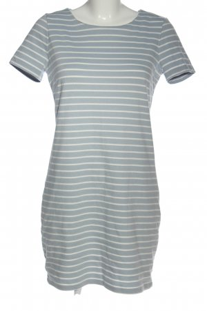 Vila Clothes Kurzarmkleid hellgrau-weiß Streifenmuster Casual-Look